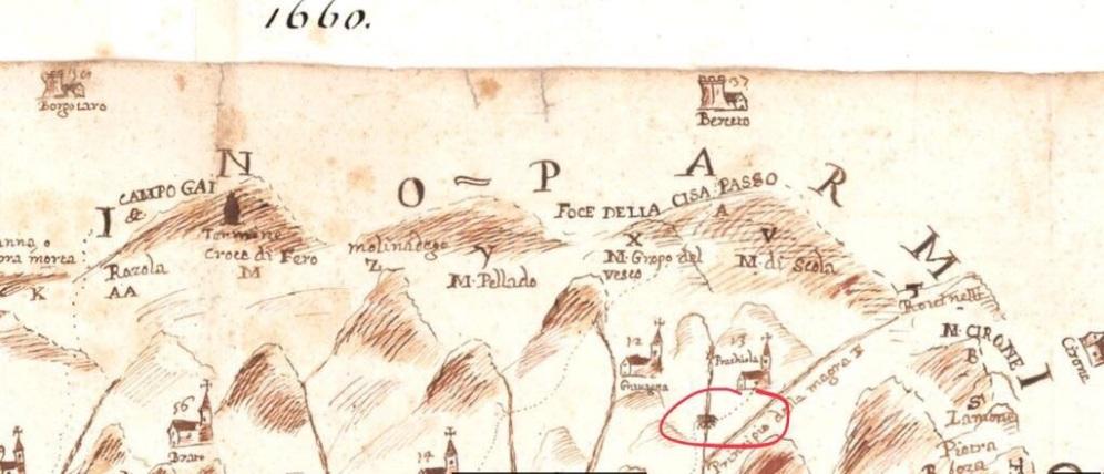 cartina antica Pracchiola